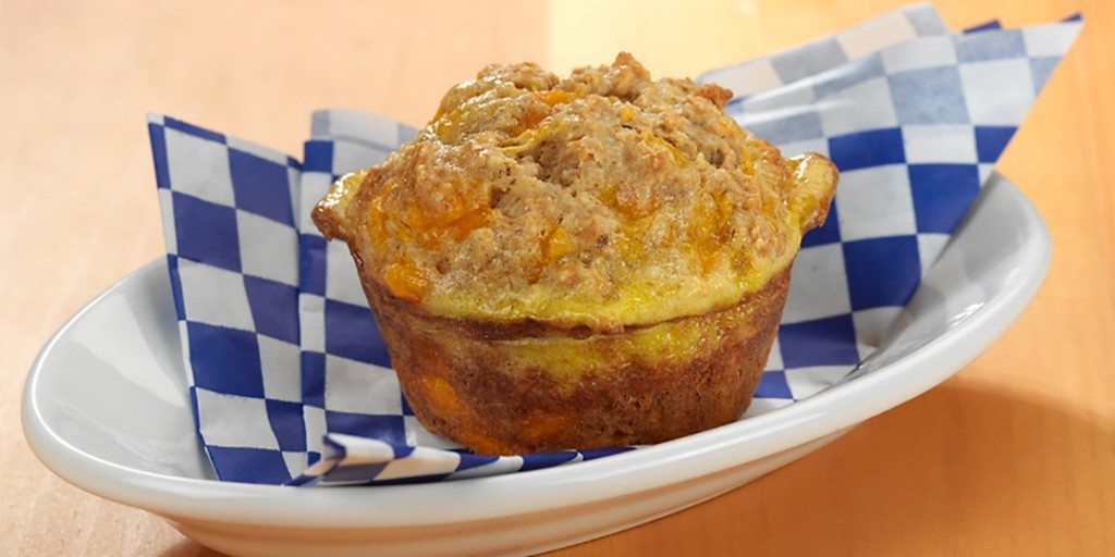 dairygood, breakfast, cheese muffin