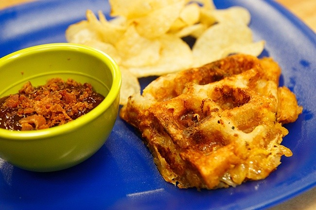 Grilled Waffle Cheese